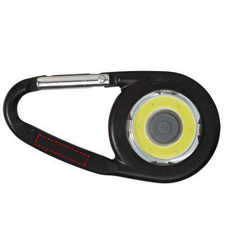 Mousqueton avec lampe COB Eye