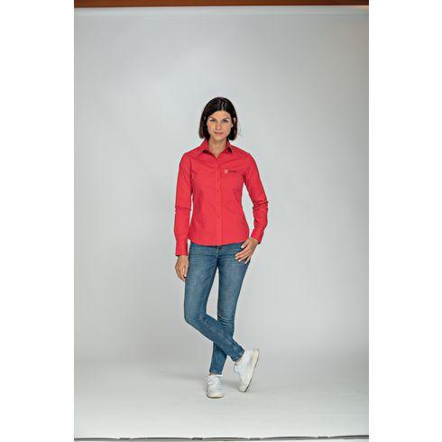 L&S Poplin Longsleeve Shirt femme chemise