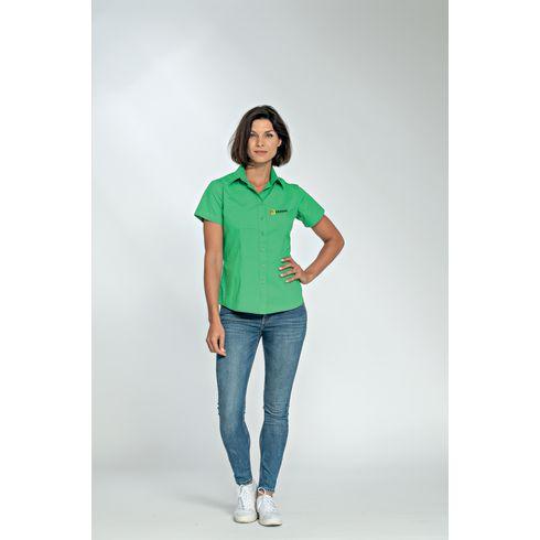L&S Poplin Shortsleeve Shirt femme chemise