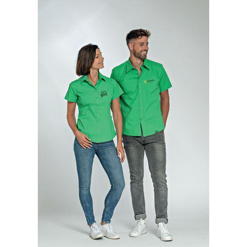 L&S Poplin Shortsleeve Shirt homme chemise
