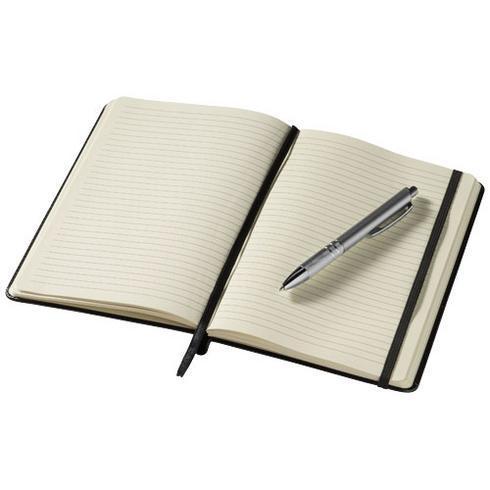 Calepin A5 à couverture rigide et stylo Panama