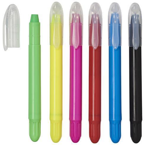 6 crayons rétractables avec étui plastique Phiz