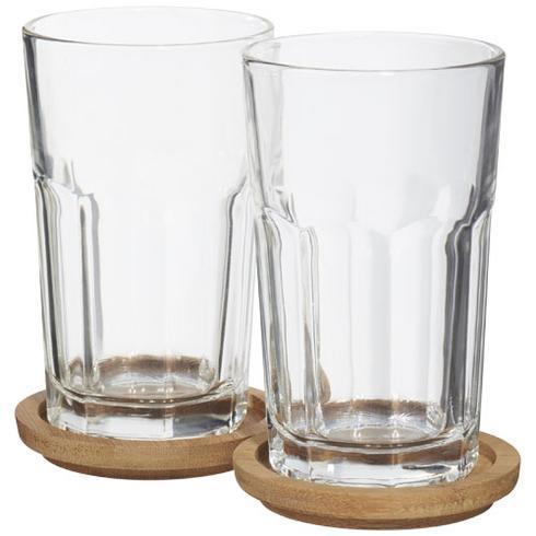 Ensemble de 2 verres avec sous-verre Linden