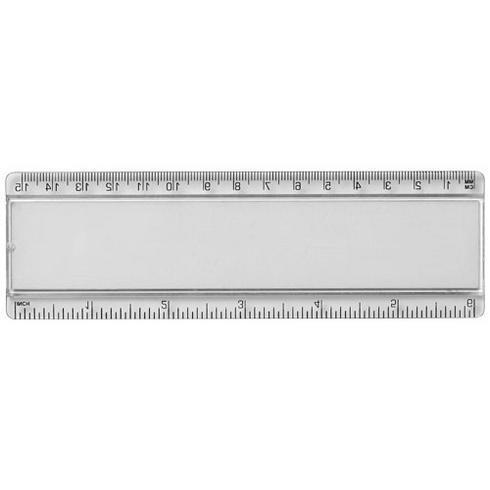 Règle en plastique Ellison 15 cm avec insertion de papier décoratif
