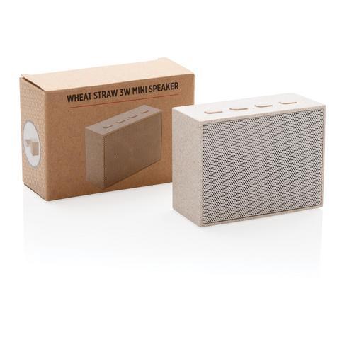 Mini enceinte 3W en fibre de paille